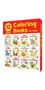 Colouring Books Boxset of 12