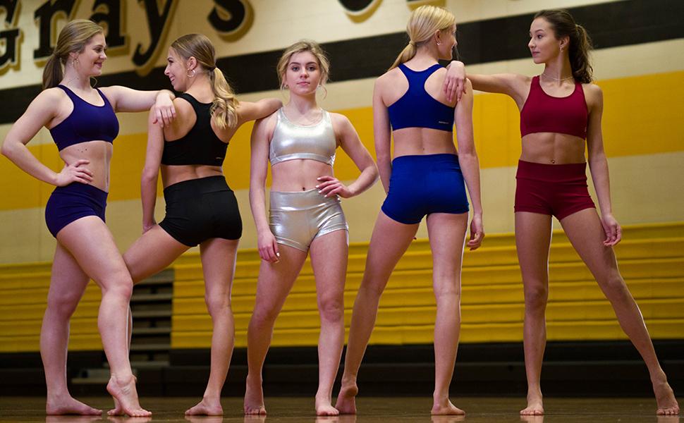 Sweat and Grace, Dance and spirit wear, mid impact sports bra