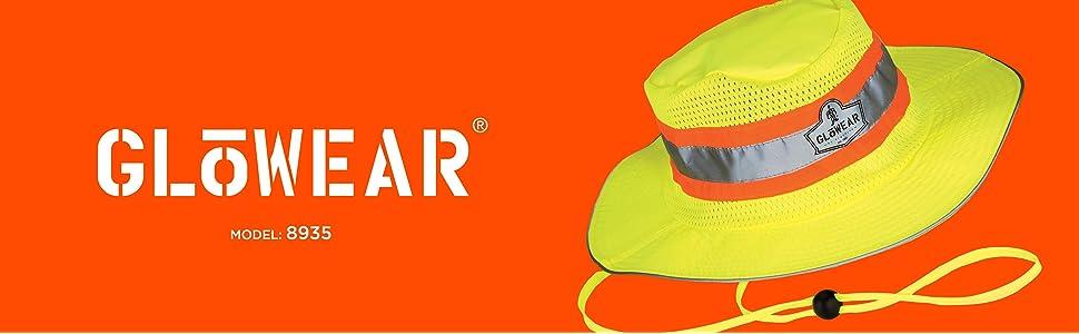 a1e5b2570 Ergodyne GloWear 8935 High-Visibility Ranger Hat, Large/X-Large, Lime