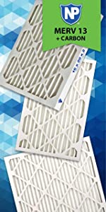 Nordic Pure, Air Filter, Filters, Air Conditioner, Carbon, Odor Control