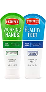 O'Keeffe's Working Hands and Healthy Feet Combo