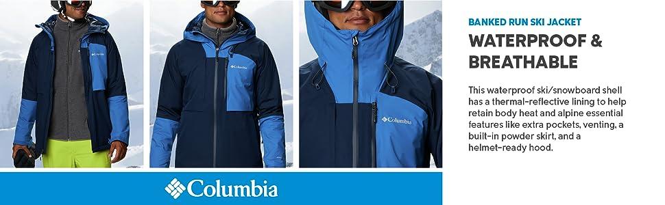 Columbia Men's Banked Run Ski and Snowboard Jacket