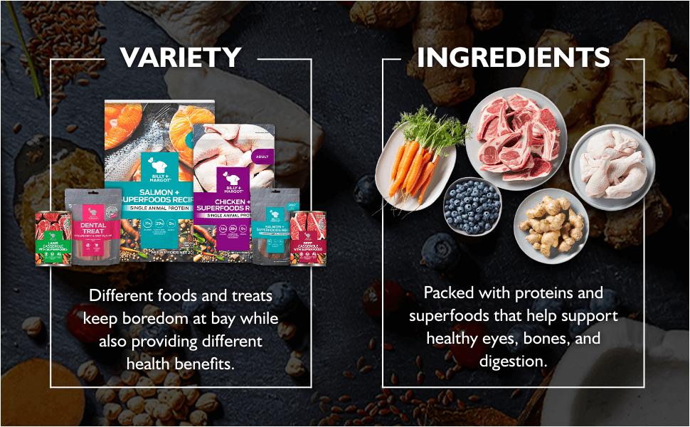 Variety amp; Ingredients details