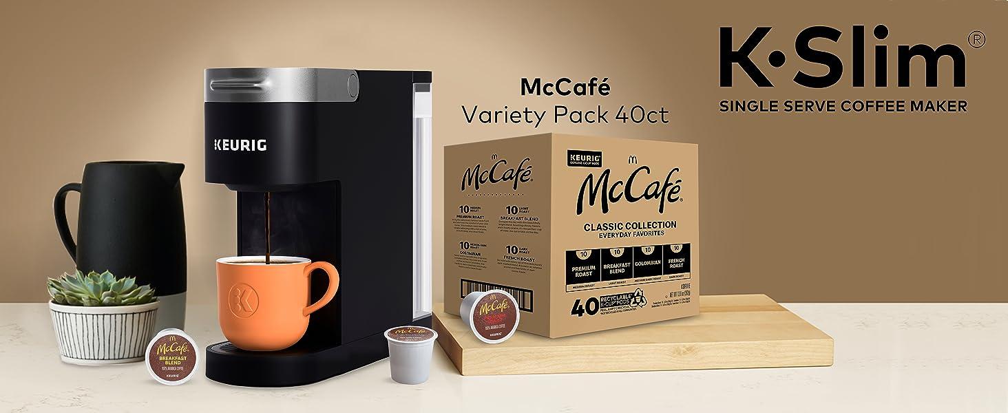 keurig, k-slim, mccafe coffee, k cup pods