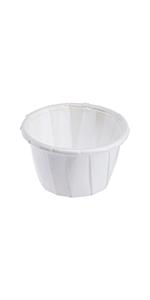Karat 0.5 oz White Paper Portion Cup
