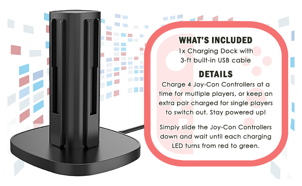 Nintendo Switch Joy Con Charging Dock Station