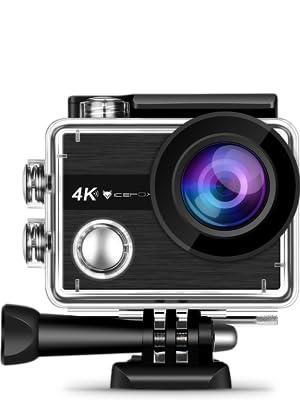 Action Cam, icefox, 2K, 16MP, Unterwasserkamera, Helmkamera, Wasserdicht, Sport, Action Kamera