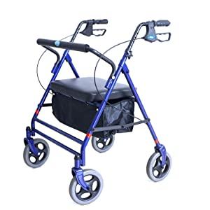 Invacare 66550 Bariatric Rollator Folding with Included Pouch Walker