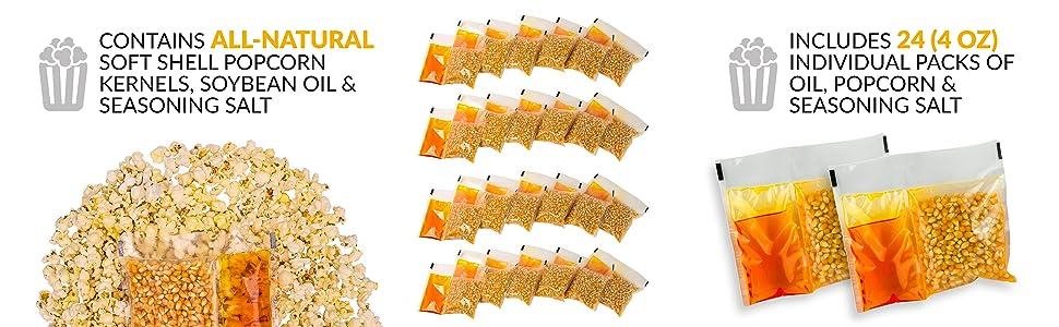 Nostalgia KPP424 Popcorn Kit