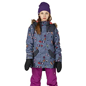 6f94349f Amazon.com: Burton Girls' Aubrey Parka Jacket: Clothing