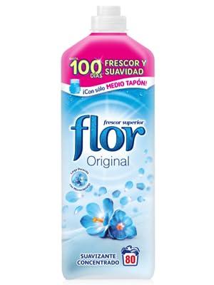 Flor - Suavizante para la Ropa Concentrado Original, 80 Lavados ...