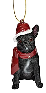 Christmas Ornaments - Xmas French Bulldog Holiday Dog Ornaments