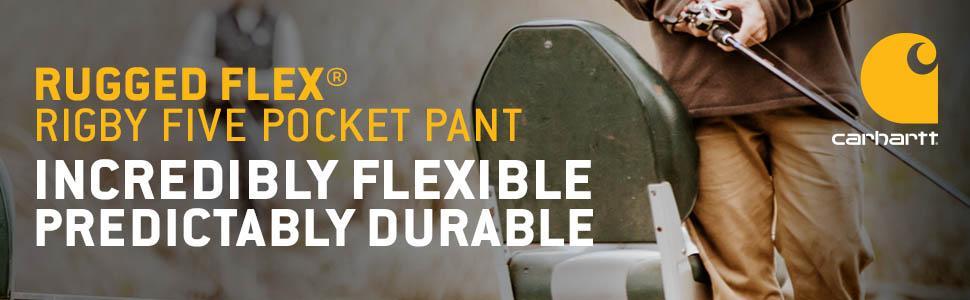 Amazon Com Carhartt Men S Rugged Flex Rigby Five Pocket