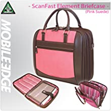 ScanFast Element Checkpoint Friendly Briefcase (Pink Suede) - MESFEBX