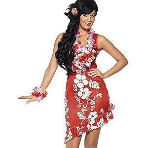 Smiffys-33043M Miffy Disfraz de Belleza Hawaiana, con Vestido ...