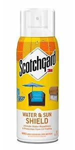 Sun, Water, Shield, Scotchgard