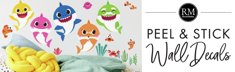 Baby Shark Peel And Stick Wall Decals