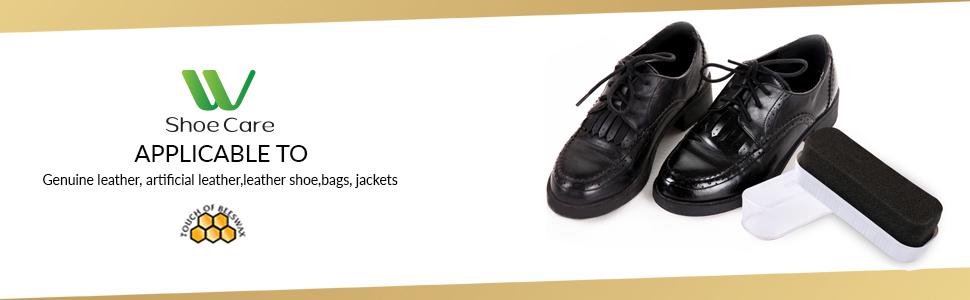 black shoe shining sponge
