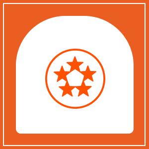 5- star rating