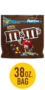 M&M'S Milk Chocolate Candy Party Size Bag