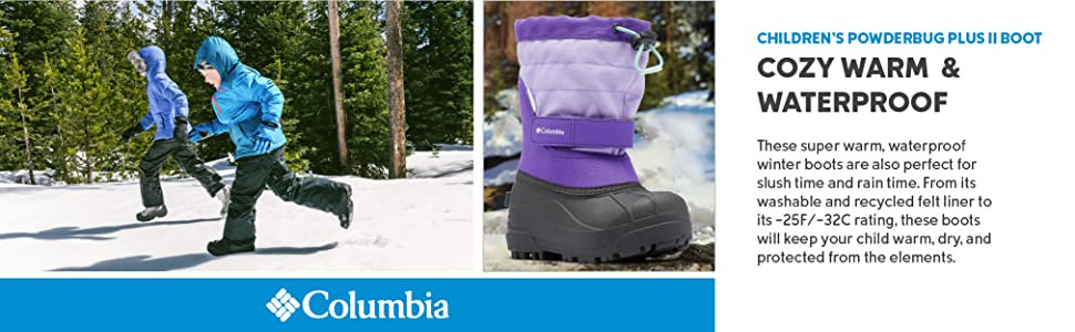 Columbia Kids Youth Powderbug Plus Ii Snow Boot