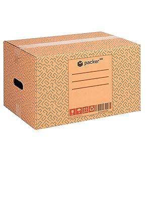Pack 10 Cajas Carton para Mudanzas y Almacenaje 600x400x400mm Ultra Resistentes con Asas + Cinta Adhesiva, 100% ECO Box | Packer PRO: Amazon.es: Oficina y papelería