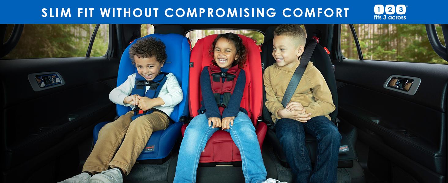 slim fit car seat 3 across