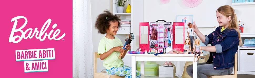 Barbie con Pennarelli Crayola e Abiti da Colorare