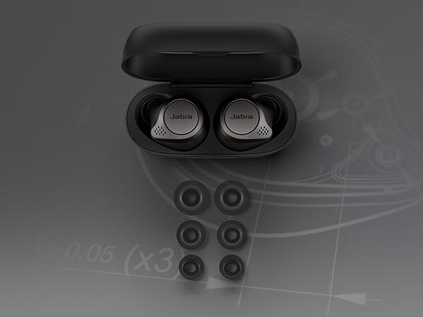 Jabra Elite 75t Earbuds–Alexa Enabled, True Wireless Earbuds with Charging Case,Titanium Black