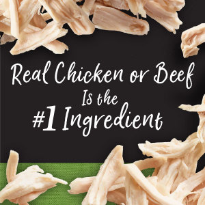 Real Chicken or Beef is the 1st Ingredient, Protein First, Real Meat, Poultry, Delicious, Gourmet