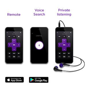 The Roku mobile app