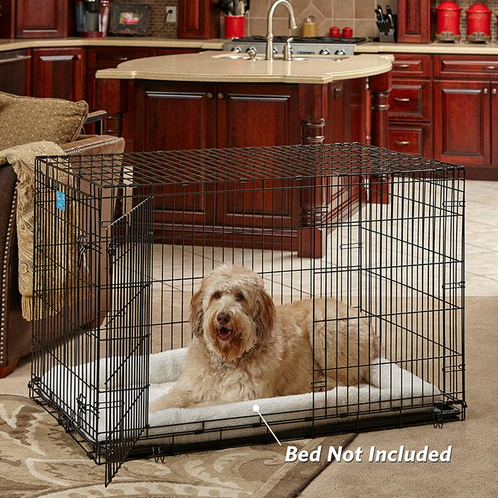 Home Training and Travel Series. LifeStages double-door door dog ... & Amazon.com : MidWest Life Stages Folding Metal Dog Crate : Pet ...
