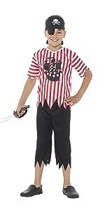 Smiffys-25761L Disfraz de Pirata y Camisa, Pantalones, cubrebotas ...