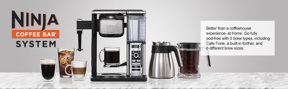 Amazon.com: Ninja Coffee Bar Auto-iQ - Cafetera programable ...