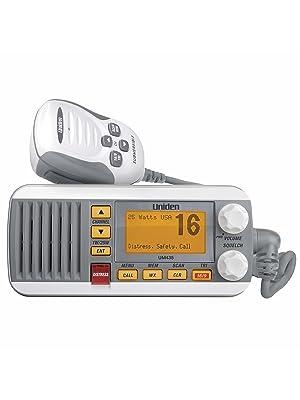 um435 Uniden marine radio white