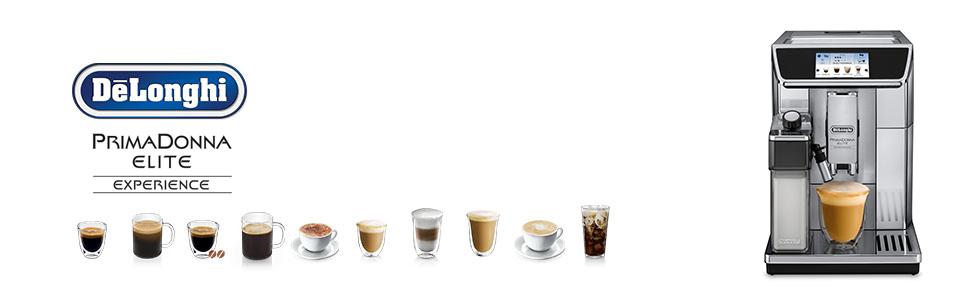 PrimaDonna Elite Experience; De'Longhi Coffee machines; luxury coffee machine; delonghi coffee