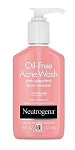 Neutrogena Oil Free Salicylic Acid Pink Grapefruit Pore Cleansing Acne Face Wash