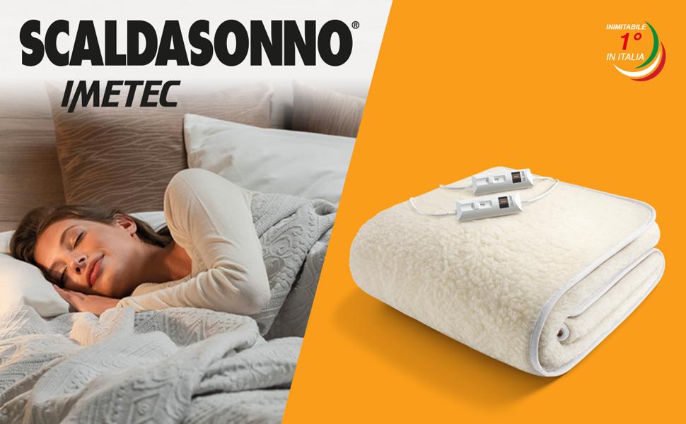 Imetec Scaldasonno Matrimoniale 150x160 Cm 50 Lana E Merino 2 Temperature Dispositivo Sicurezza Electro Block Made In Italy Amazon It Casa E Cucina