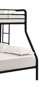 resting bedpost bedspread ready assemble easy assembly RTA DHP black headboard baseboard tiny