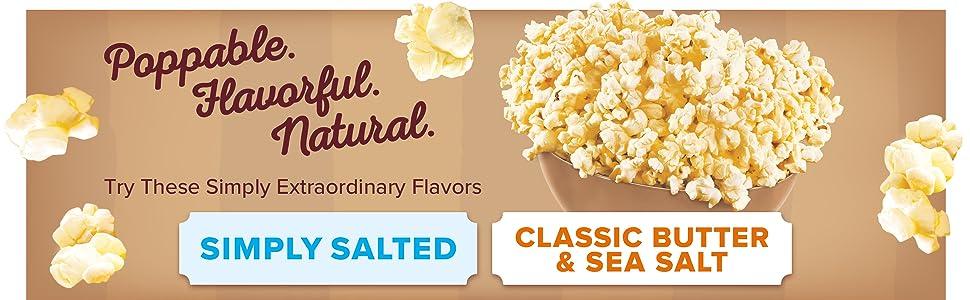 Try all of Orville Redenbacher's natural popcorn varieties