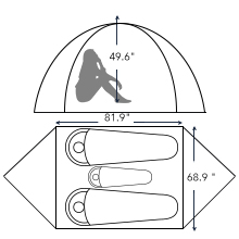 backpacking tent big room