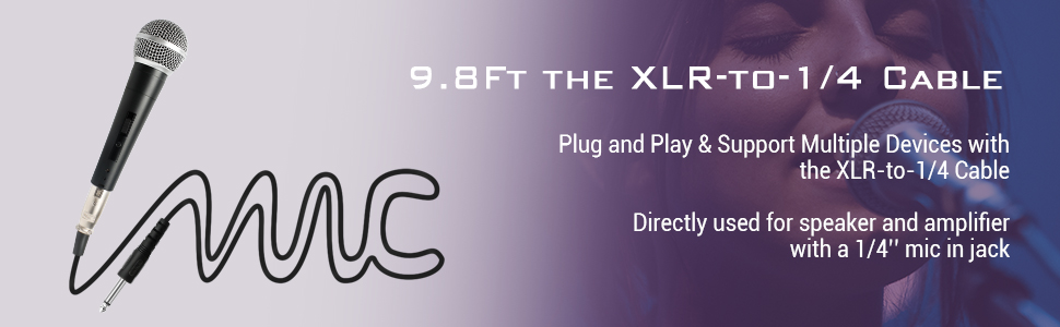 XLR and cable plug and play
