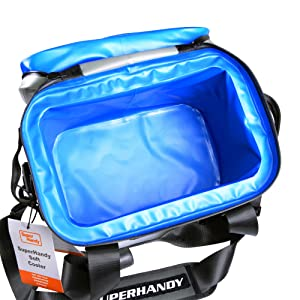 bag tote cooler chest ice retention portable live bait insulated outdoor camping fishing beach UV