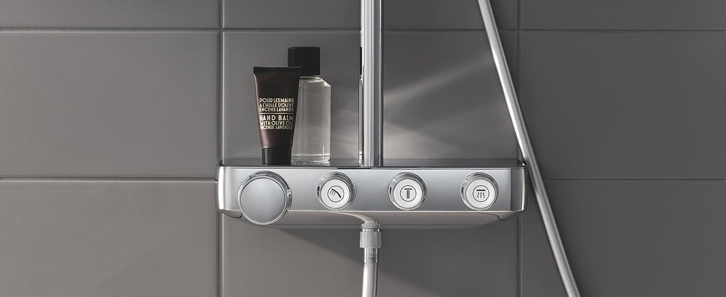 Hệ thống vòi hoa sen mạnh mẽ, hoàn hảo của bạn Tận hưởng cảm giác phấn khích tinh khiết khi tắm - với GROH.