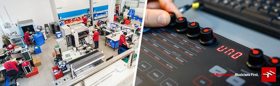 IK Multimedia, factory, warranty