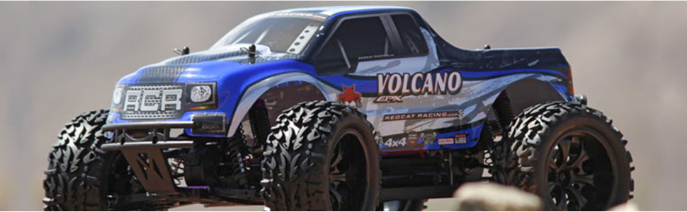 Redcat Racing Volcano EPX 1/10 Scale Brushed Monster Truck Fast 4 Wheel Drive Ready to Run