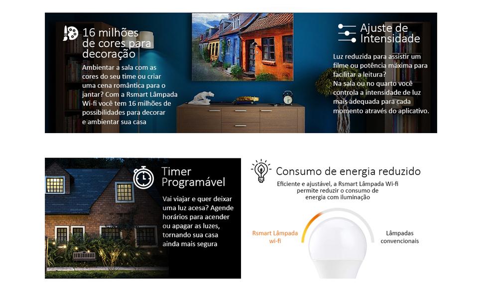 lampada inteligente wifi rsmart