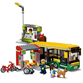 60154 BUS STATION lego SET legos city town NEW kit SEALED train transit depot