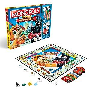 Monopoly- Junior Electronico (Versión Portuguesa) (Hasbro E1842190): Amazon.es: Juguetes y juegos