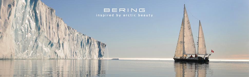 Bering chicas pulsera cristal zafiro reloj delgado Behring Skagen clásico diseño cuarzo elegancia